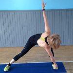 Yoga stretch and reach